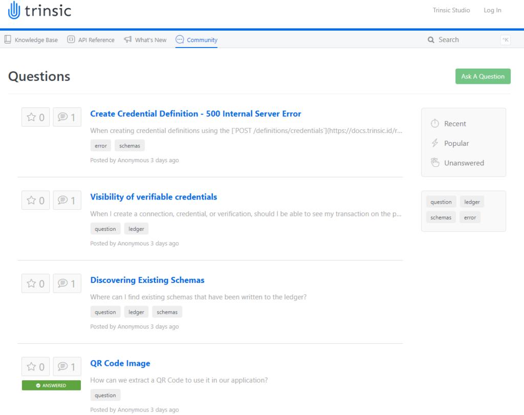 Trinsic's documentation