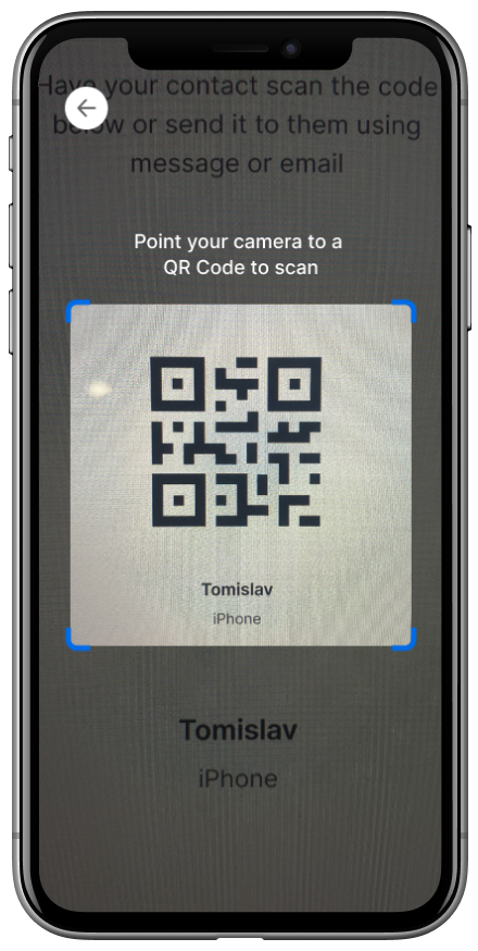 Trinsic Wallet scan QR code screen
